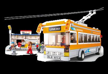 Bild på Skinnebus, Sluban Trolley Bus M38-B0332