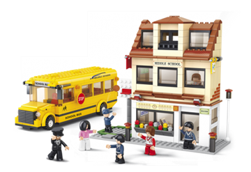 Bild på Skole og skolebus, Sluban Middle School M38-B0333
