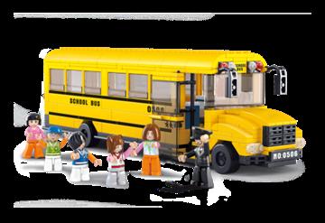 Billede af Stor skolebus, Sluban Large School Bus M38-B0506