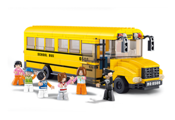 Bild på Stor skolebus, Sluban Large School Bus M38-B0506