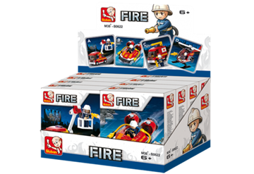 Sluban Fire Fighter Display 8 Pieces M38-B0622
