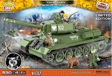 Cobi Small Army WW2 2486- Rudy T-34/85