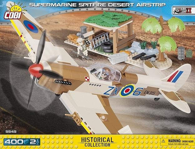 Cobi Small Army WW2 5545 - Spitfire Dessert Airstrip