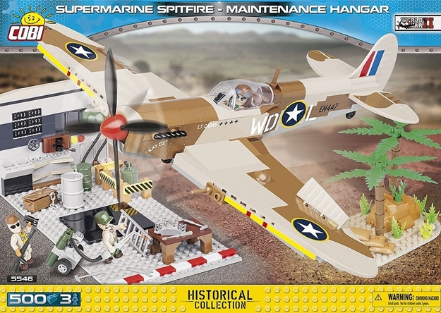Cobi Small Army WW2 5546 - Spitfire Mission Hangar